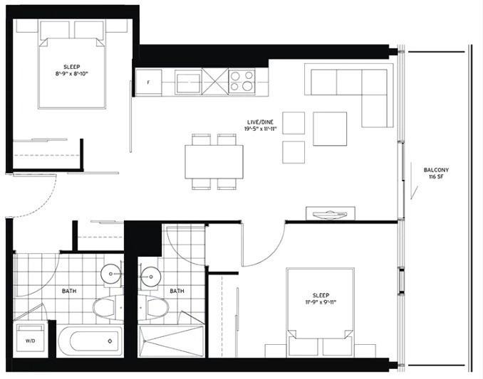 Condo Apt For Lease In Toronto , 2 Bedrooms Bedrooms, ,2 BathroomsBathrooms,Condo Apt,For Lease,2706,Roehampton