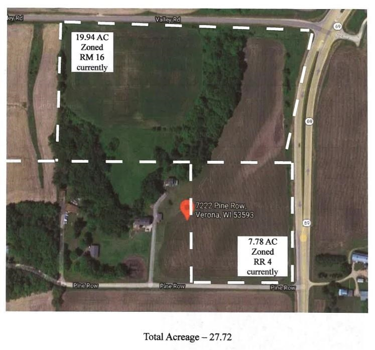 27.72Ac Pine Row Rd & Hwy 69, Verona, Wisconsin 53593, ,Lots & Acreage,For Sale,Pine Row Rd & Hwy 69,1918746