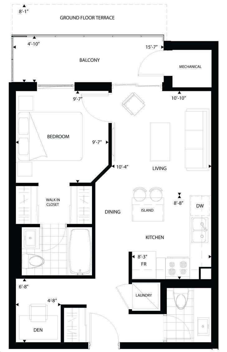 Condo Apt For Lease In Toronto , 1 Bedroom Bedrooms, ,2 BathroomsBathrooms,Condo Apt,For Lease,215,St Clair