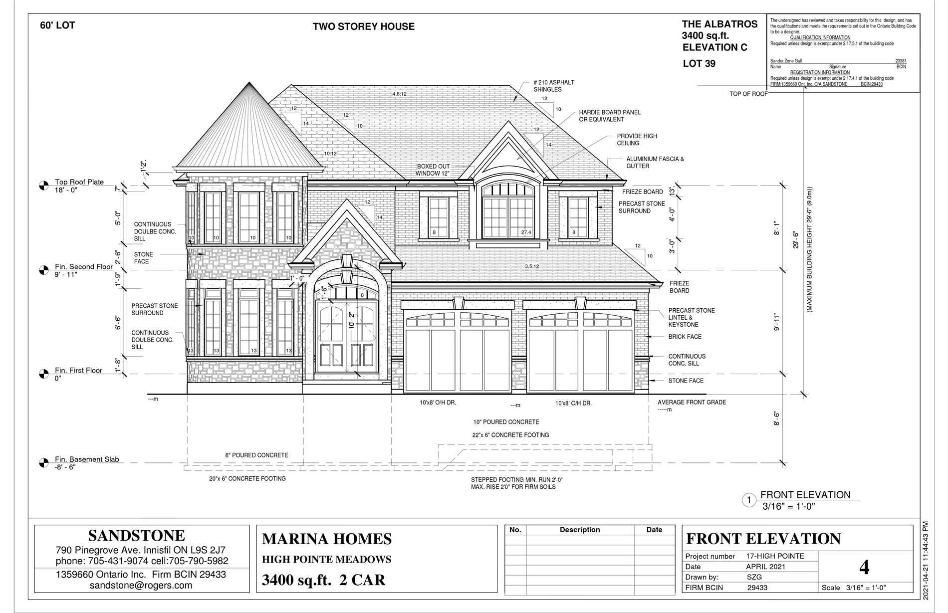 Detached house For Sale In Fort Erie - Lot 39 High Pointe, Fort Erie, Ontario, Canada L5A5P5 , 5 Bedrooms Bedrooms, ,4 BathroomsBathrooms,Detached,For Sale,High Pointe